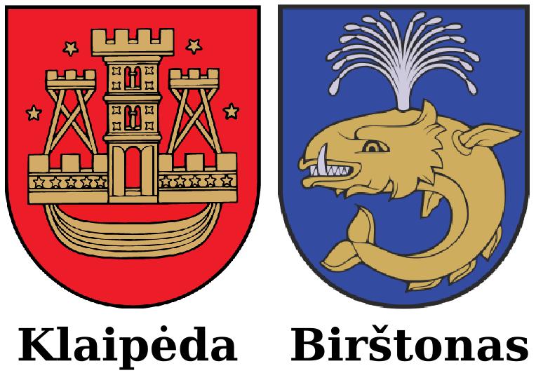 Klaipėdos ir Birštono herbai. Laimėtojai 2015