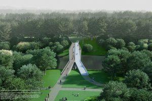 Projektas tilto per Nerį Vilniuje
